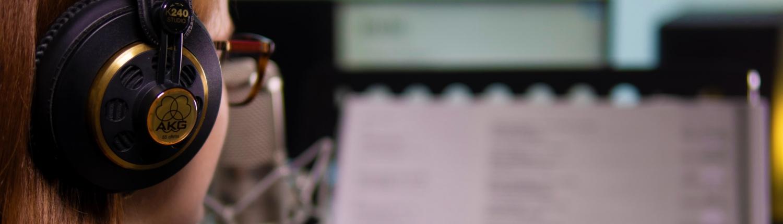 Sprecheraufnahme, Recording, Podcast, Tonstudio