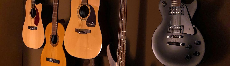 Slider, Gitarrenwand, Schalldruck-Werkstatt, Tonstudio